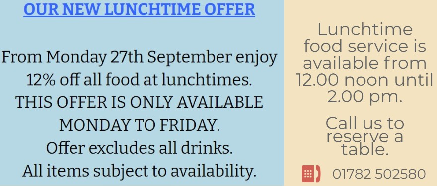 Check out our new lunchtime offer!
